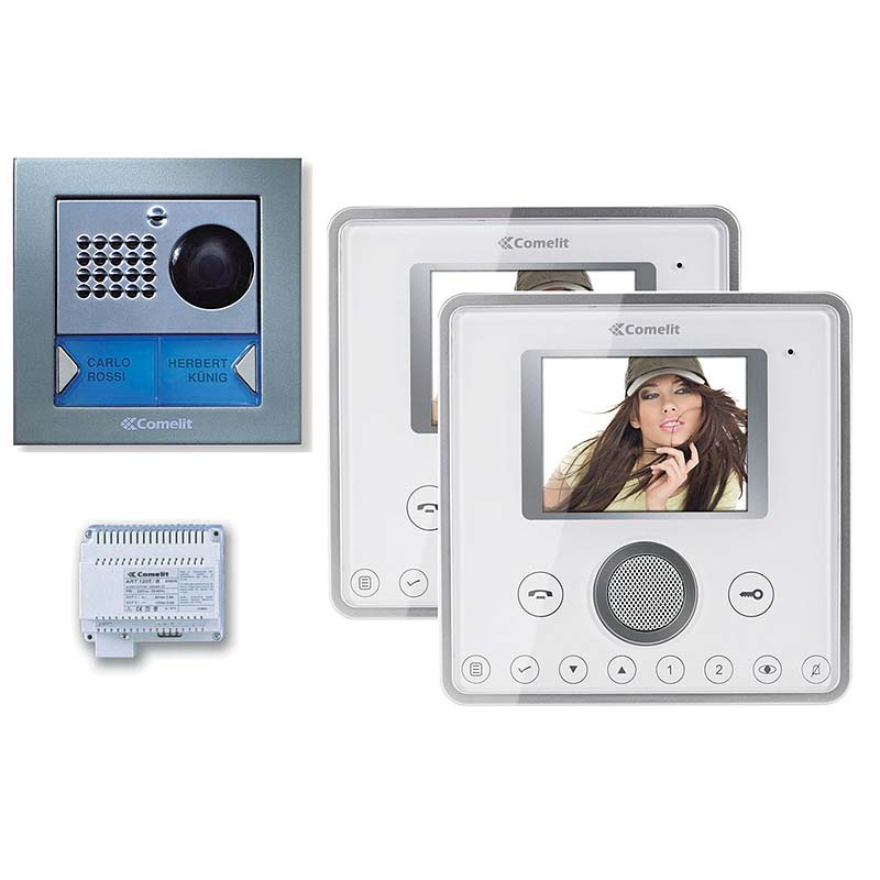 Comelit dørstation og dørtelefon med video og kamera