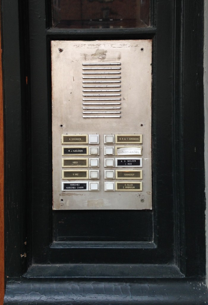 Siedle dørtelefon anlæg, før installering juni 2014